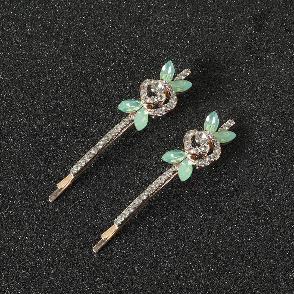 Rose Silver Side Clip Hair Accessories