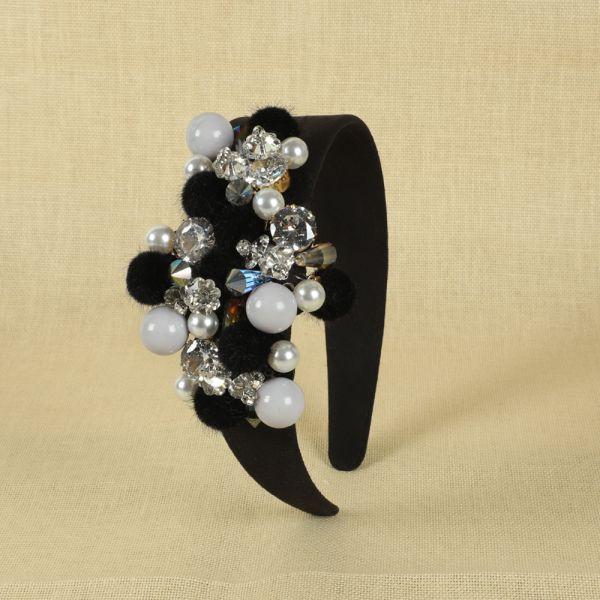 Black Pearl Hair Head Bands