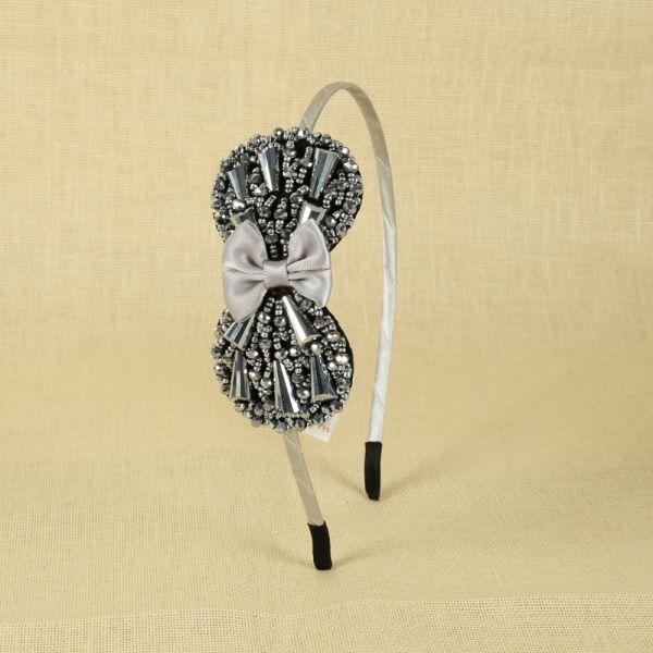Silver Flower Hair Head Bands