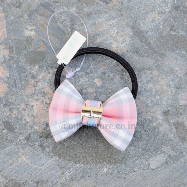 Solid Scrunchie With Bow Detail For Girls