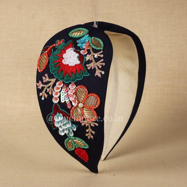 Black Colored Embellished Hairband