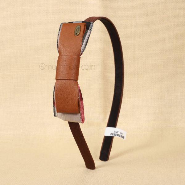 Tan Brown Bow Detail Headband
