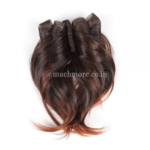 Clip-in Hair Extensions With Brown Highights