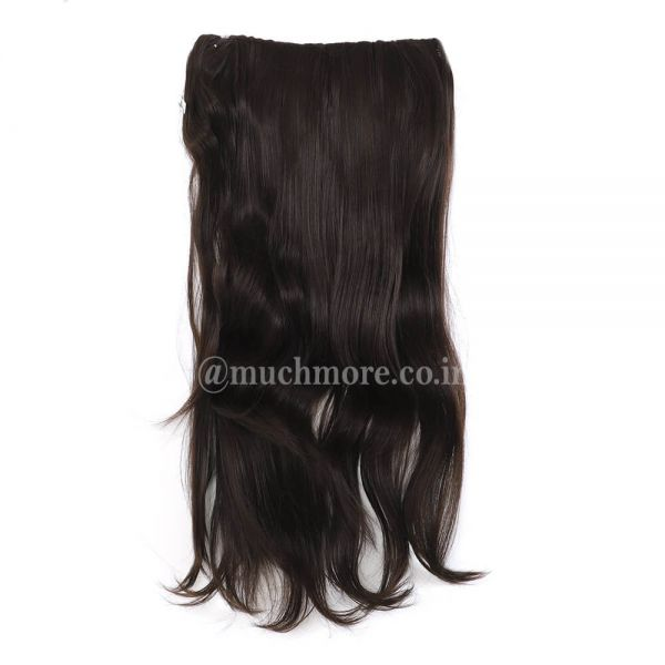 Black Mix Brown Straight Hair Extensions