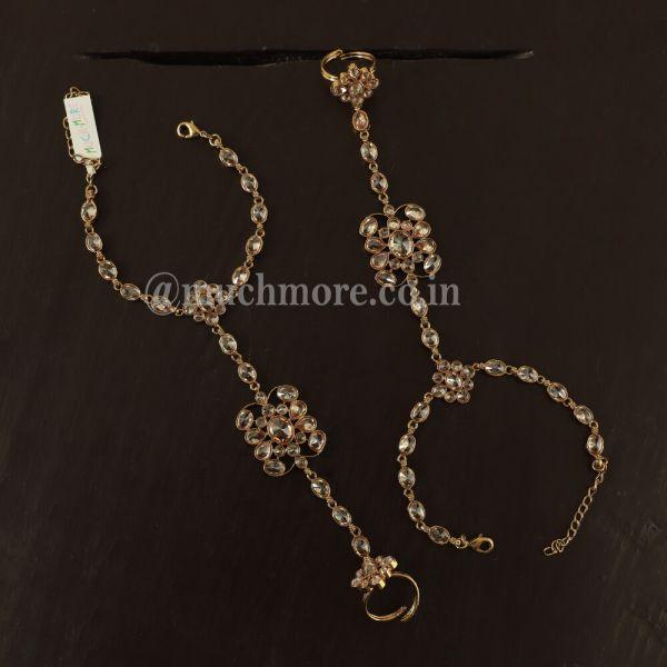 Antique Look Ring Bracelet Hathphool