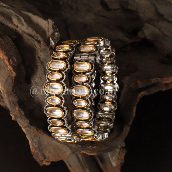 Exclusive Collection Of Uncut Kundan Bangle Bracelet