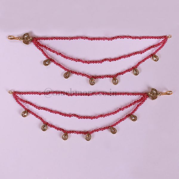 Ear chain/Matil with Hooks And Stone Work