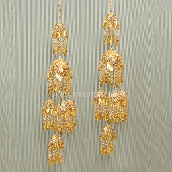 Multi-Tier Gold Kalire For Sikh Wedding