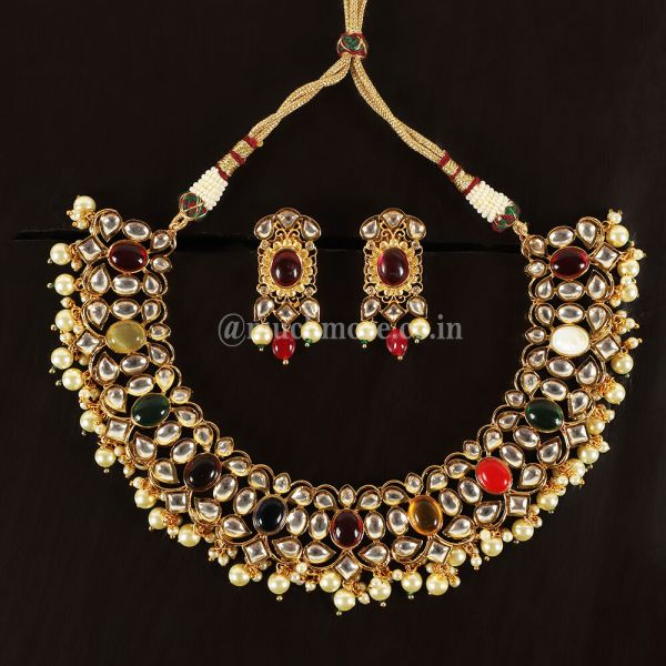 Stunning Navratna Necklace By Much More