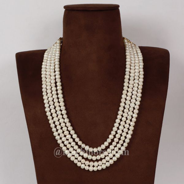 Exclusive Four Line Pearl Mala Online