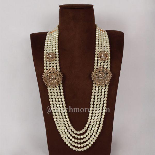 Pearl Traditional Primum Long Mala For Men's Sherwani
