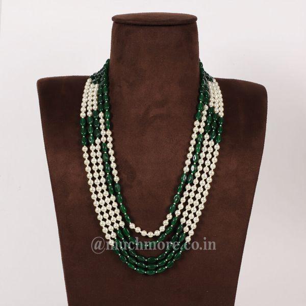 Ethnic Wedding Pearl Mala Necklace For Groom