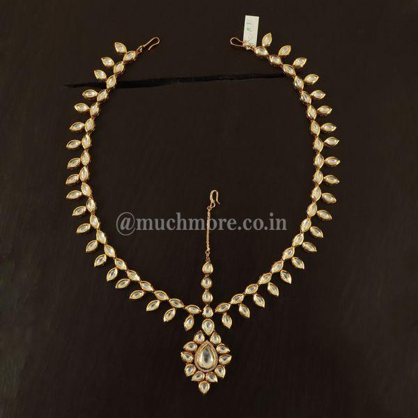 Exquisite Royal Kundan Mathapatti For Wedding