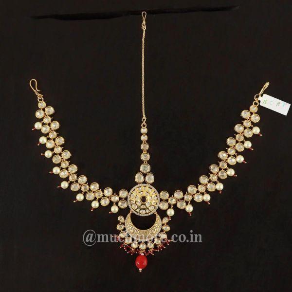Gold Tone Kundan Maatha Patti For Wedding
