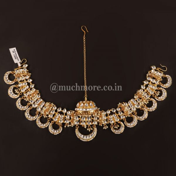 Gold Tone Kundan Inspired Maatha Patti