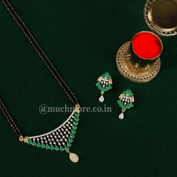 Gold Plate Diamond Tanmaniya Pendant