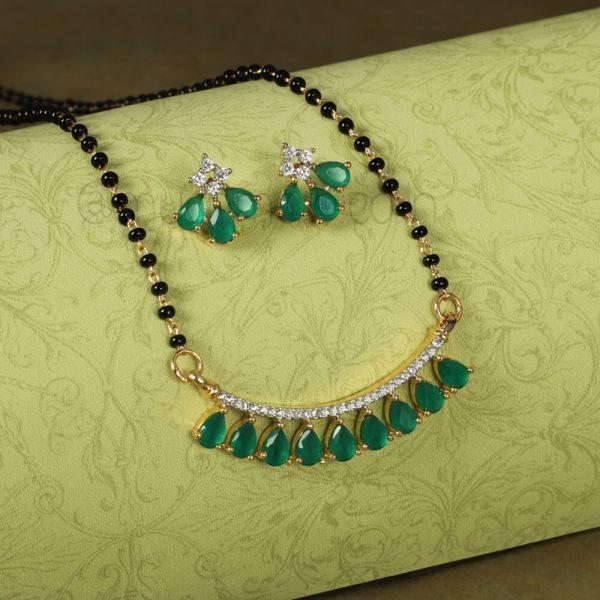 Emerald Green Mangalsutra Online shopping