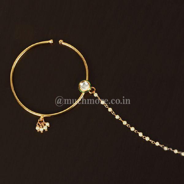 Simple Big Round Bridal Kundan Nath At Best Price