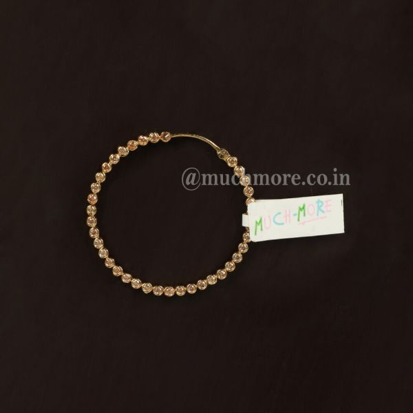 Gold-Plated Studded Round Nath Without Chain For Bride