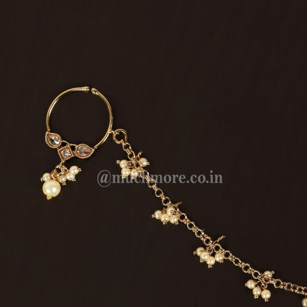 Latest Designs Antique Gold Nath For Wedding Bride