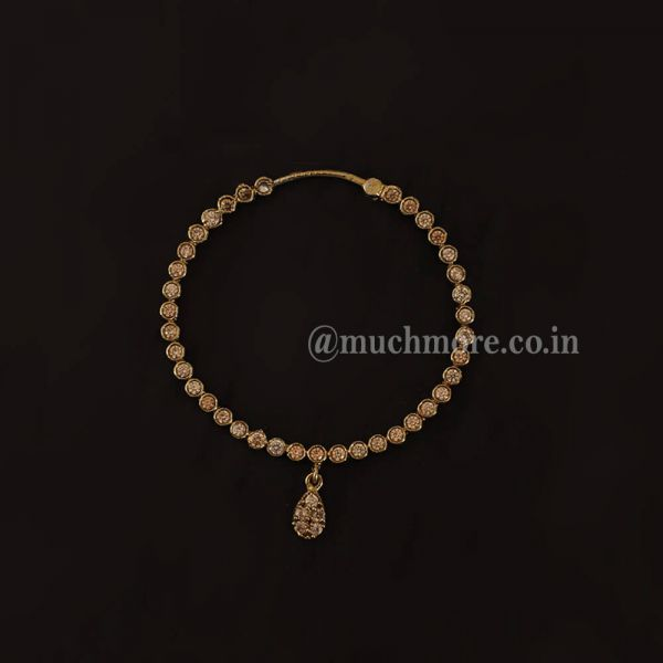 Antique Gold Tone Nath Without Chain For Bride