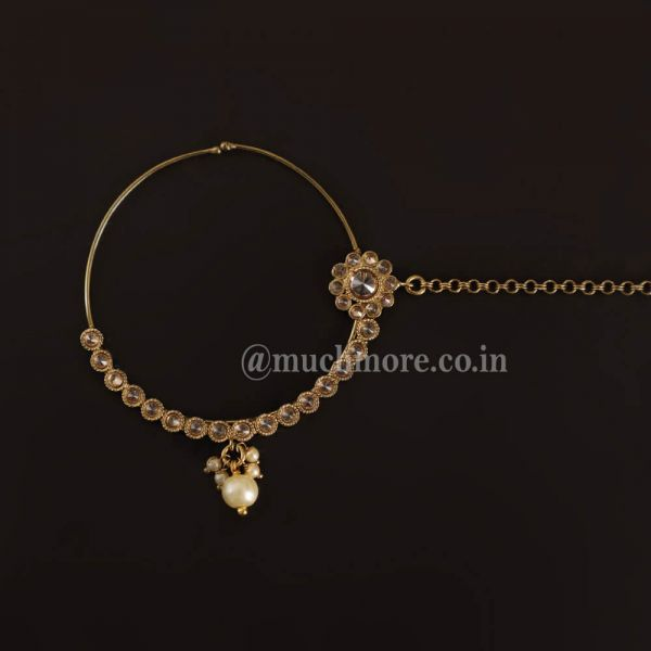 Gold Plated Traditional Ethnic Bridal Nath