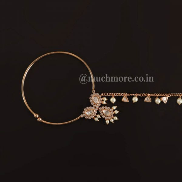 Customized Nath Design With Kundan And Beads