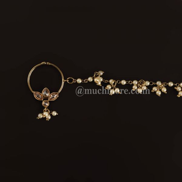 Exclusive Gold Tone Small Bridal Nath Nosering