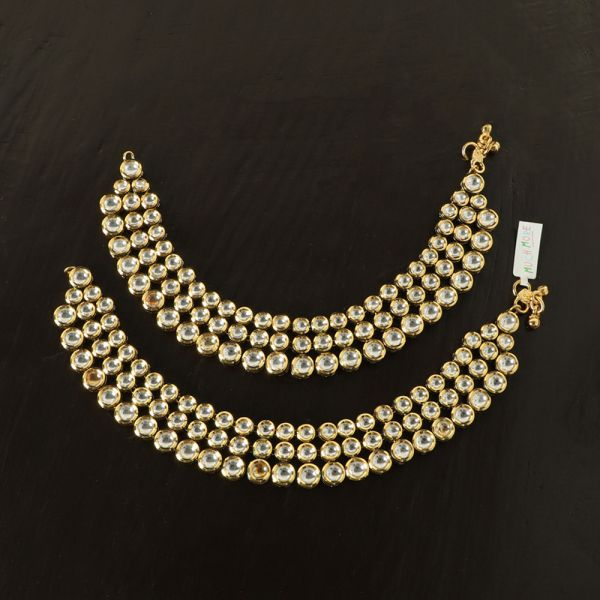 Traditional Kundan Anklet