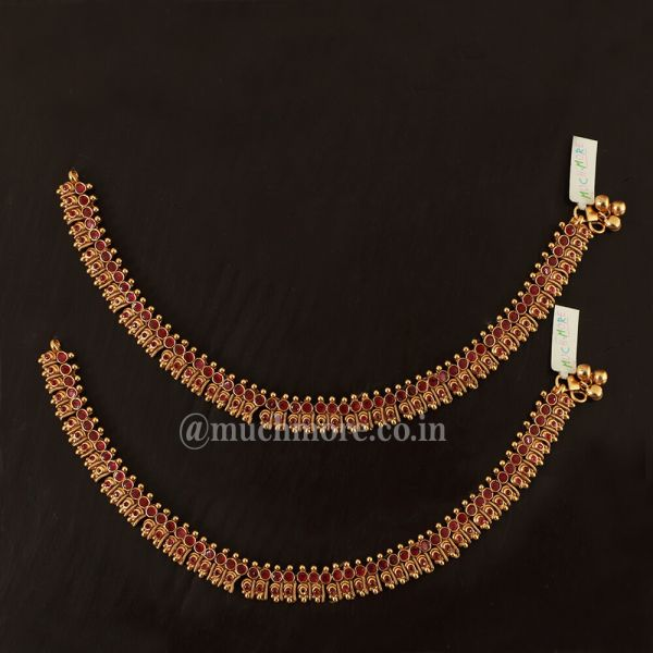 Ruby Women's Anklets online For Wedding