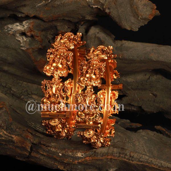 Lord ganesha Temple Work Bangles