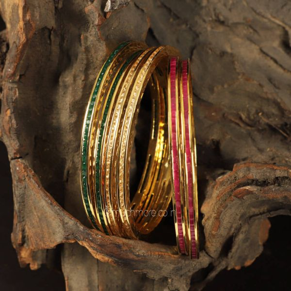Multicolored Light Weight Traditional Bangles For Women
