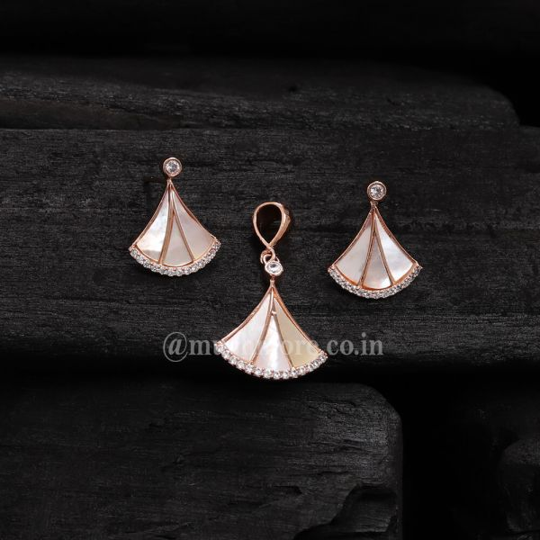 Set For Women Combo Of Pendant Set With Earrings Mother Of Pearl Pendant