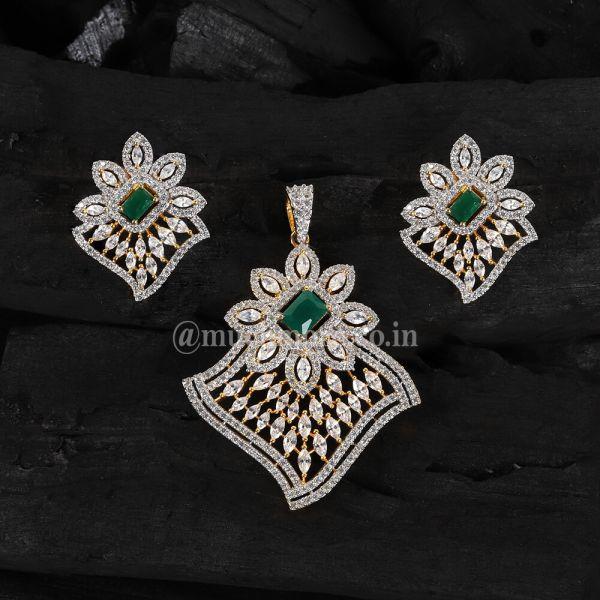 Daily Wear Diamond Pendant Set