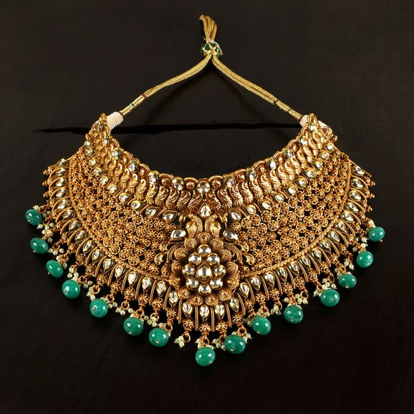 Antique Emerald Necklace Set