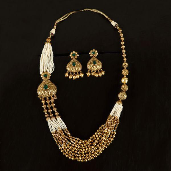 Long Antique Necklace Set