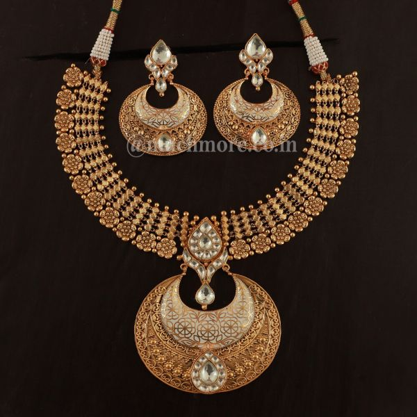 Suitable Pendant Elevates Necklace With Earrings