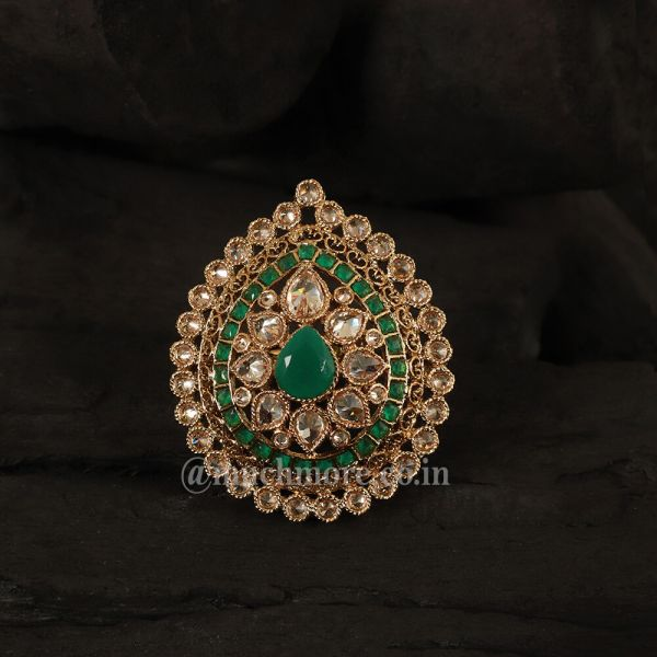 Antique Green Gold  Ring Jewelry