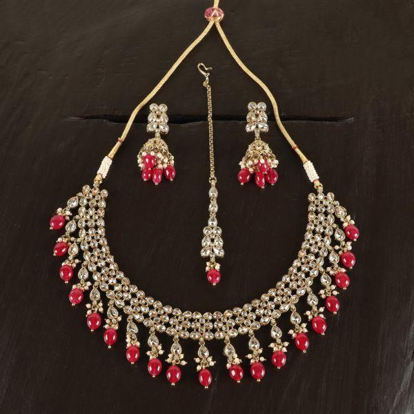 Ruby Antique Necklace Set