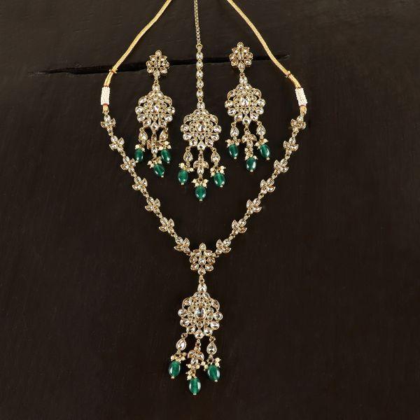 Emerald Antique Necklace Set