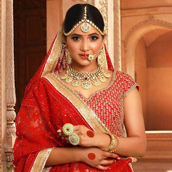 Pastel Color Bridal Designer Jewellery