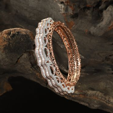 Diamond Zircon Rose Bracelet
