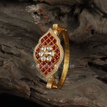 Enamelled Gold Plated Royal Openable Bracelet