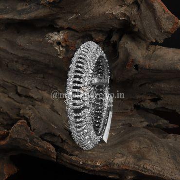 Designer Silver Plated Openable Kada Bracelet for Women