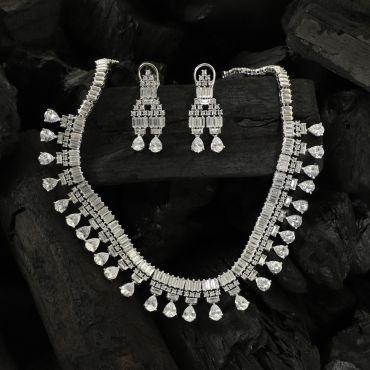Zircon Diamond Necklace Set