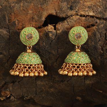 Antique Polki Mint Earring
