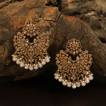 Antique Polki Pink Earring