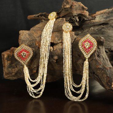 Pearl Embellished Kaan Chain Earring
