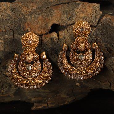 Classic Gold Tone Peacock Earring