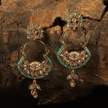 Beautiful Green Beaded Antique Earring